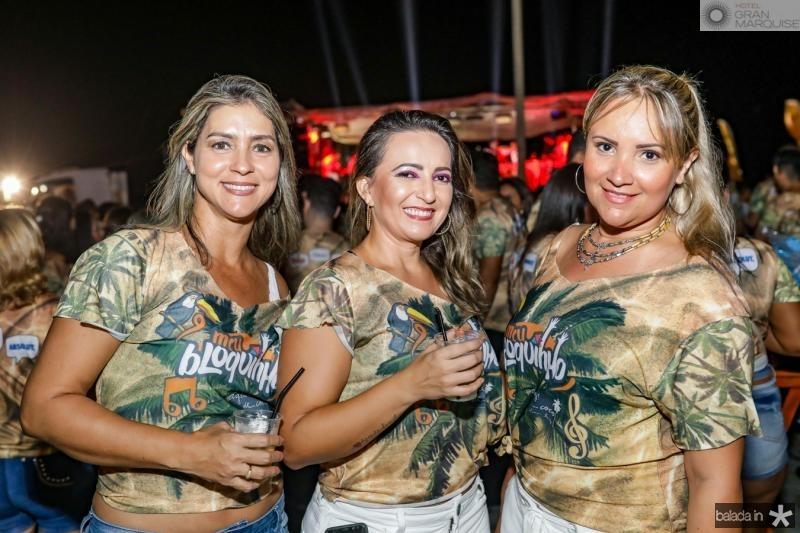Daniele Cavalcante, Renata Lima e Manu Miranda