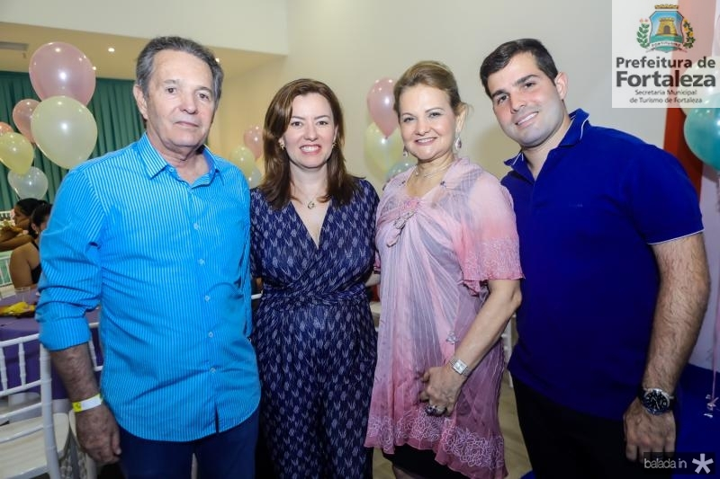 Claudio Rocha, Aline Barroso, Lenise e Felipe Rocha