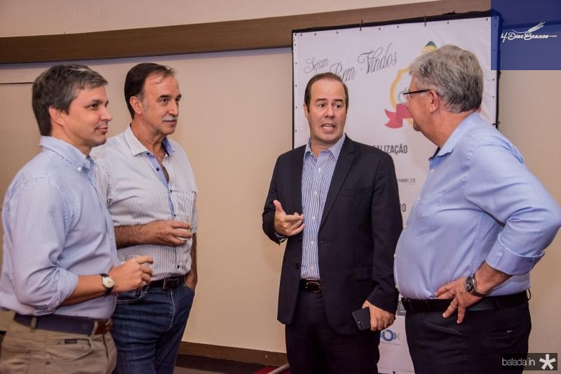 Romulo Alexandre, Armando Abreu, Cesar Ribeiro e Carlos Maia