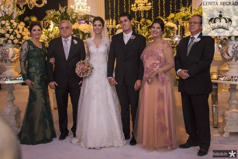 Ines Gladstone, Urubatan Romero, Manoela Gladstone, Artur Bezerra, Tereza Barbosa e Mario Bezerra