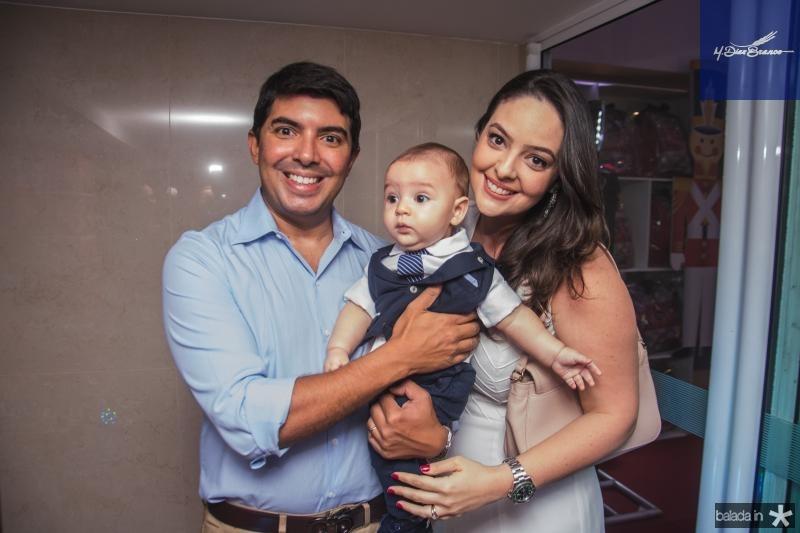 Geraldo, Guilherme e Lara Laprovitera