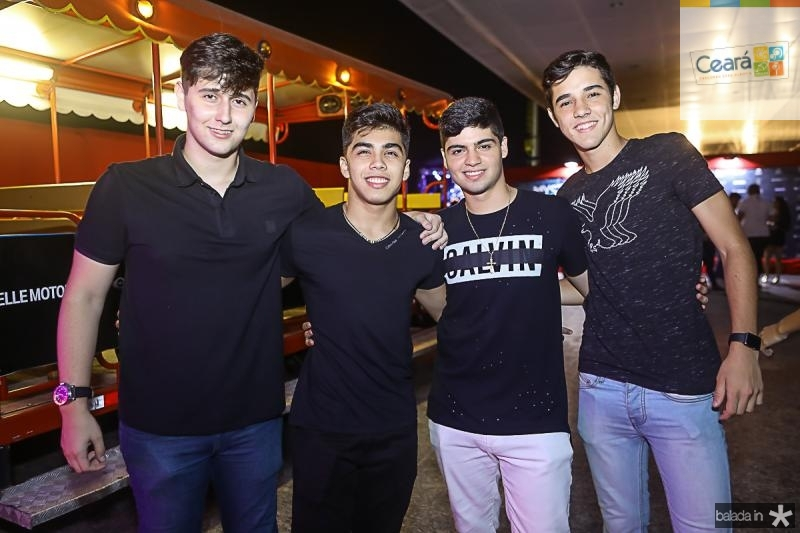Caio Rodrigues, Diego Kato, Vitor Sousa e Davi Studart