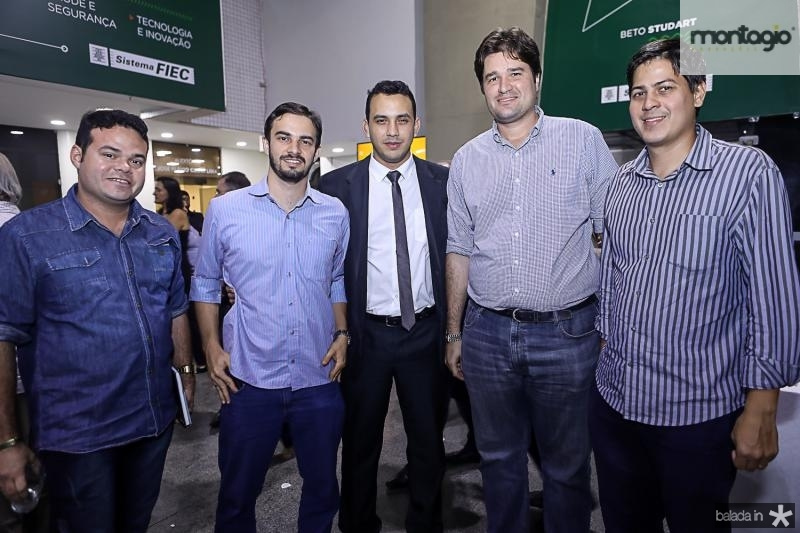Demetrios Vieira, Renan Sampaio, Valdemir Alves e Fernando Laureano e Daniel Furlani