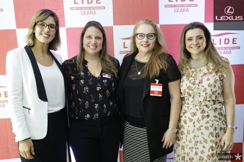 Marilia Fiuza, Luciana Colares, Luiziane Cavalcante e Emilia Buarque