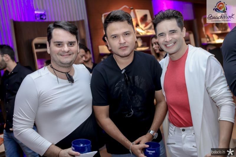 Ricardo Alencar, Jhonatan Rego e Joao Rabelo