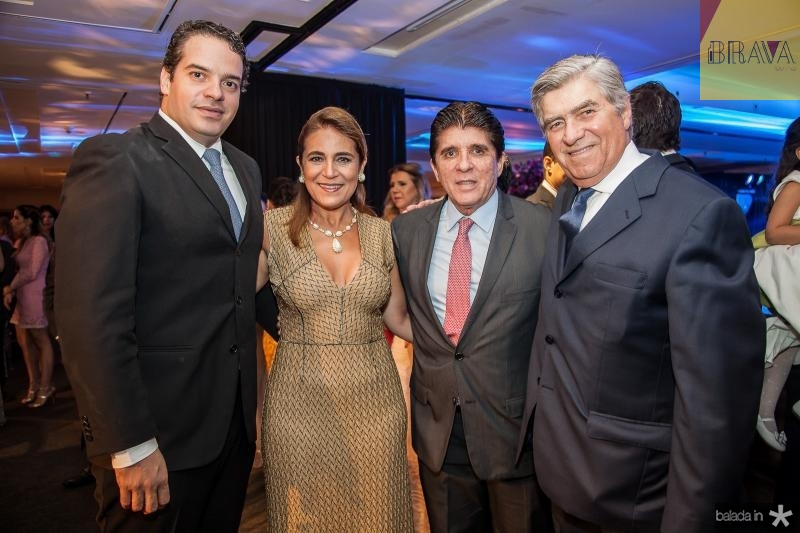 Thiago Holanda, Patricia Macedo, Dito Machado e Amarilio Macedo