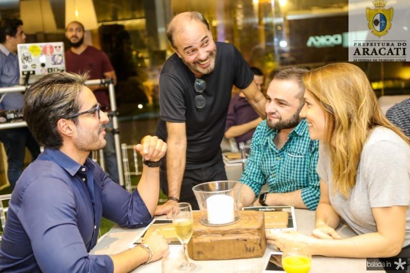 Rodrigo Porto, Marcos Novais, Ramiro Mendes e Carol Mendonça