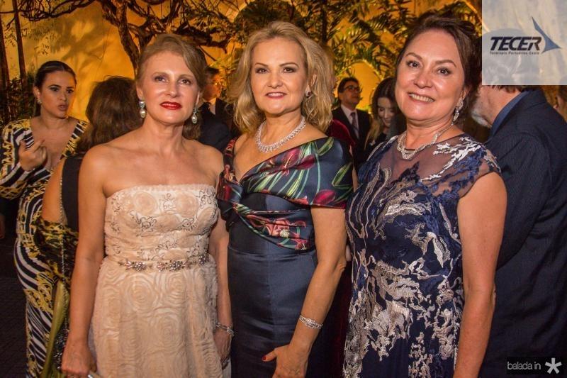 Renata Jereissati, Lenise Rocha e Paula Frota