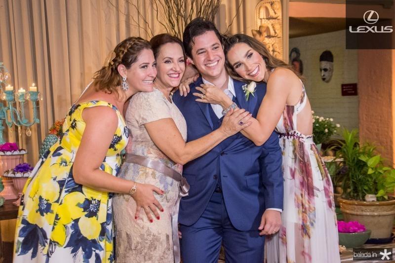 Nayana Becker, Nadya Cabral, Joao Cabral Filho e Marcela Carvalho