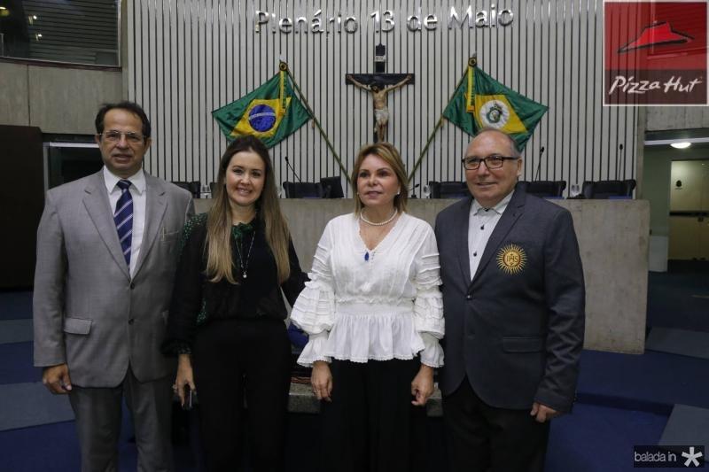 Joao Milton, Liana Fujita, Albaniza Gomes e Padre Eugenio