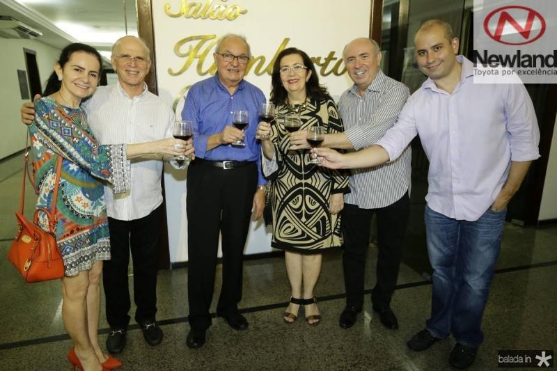 Marcia Cavalcante, Paulo Mota, Jose Edson, Helena e  Amarilio Cavalcante e Andre Linheiro
