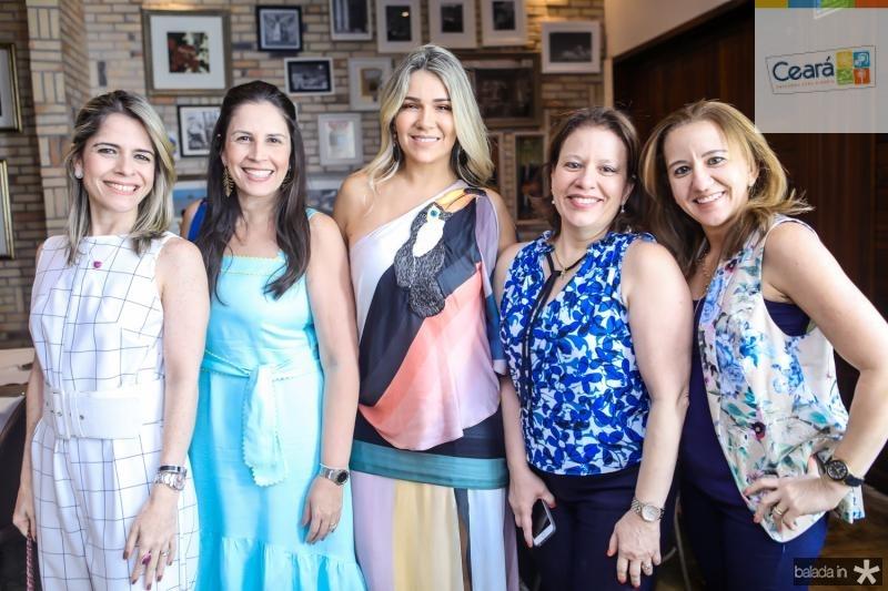 Carla Nogueira, Fabiola Rocha, Jeritza Gurgel, Ana Zelia Gadelha e Germana Mendes