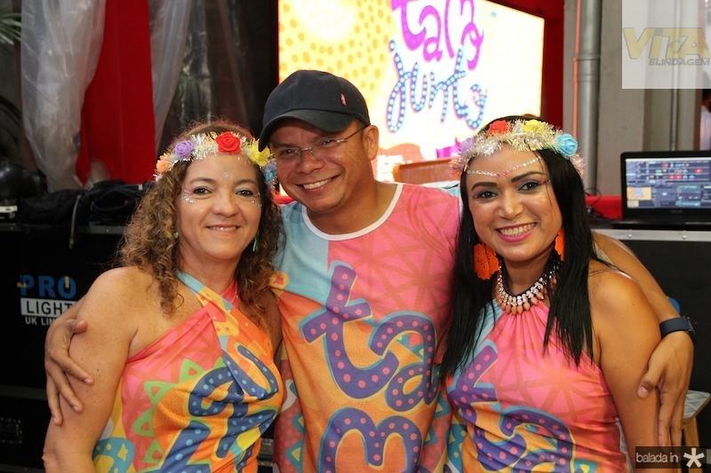 Solange Pires, Darlon Pereira e Claudene Rodrigues