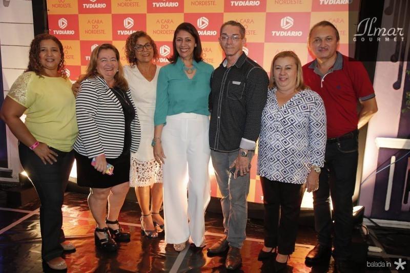 Beatriz Regina, Claudia Gurgel, Arlete Augostinho, Linda Tavares, Valdenor Candido, Liduina Bezerra e Celio Martins
