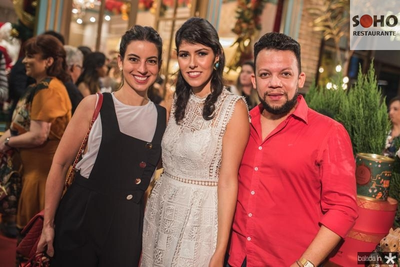Ticiana Barreira, Flavia Laprovitera e Roberto Alves