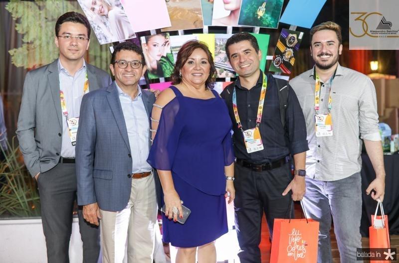 Fernando, Helio e Norma Brito, Thales Andrade e Jonathan Aragao