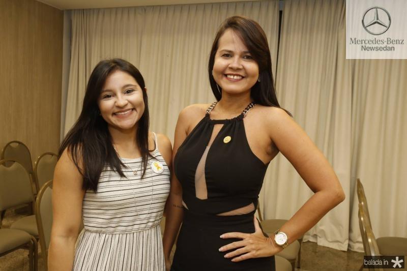 Sarah Montezuma e Priscila dos Santos
