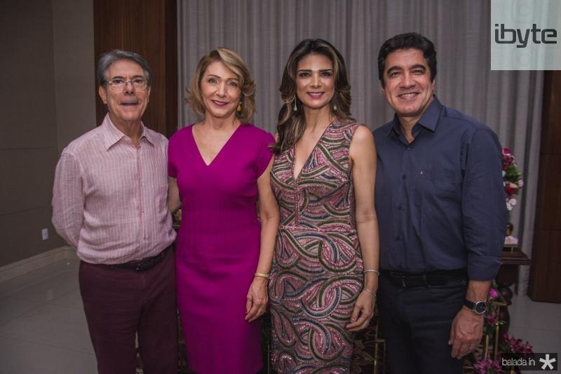 Plinho Melo, Francisca Gondim, Rachel Teixeira e Paulo Teixeira