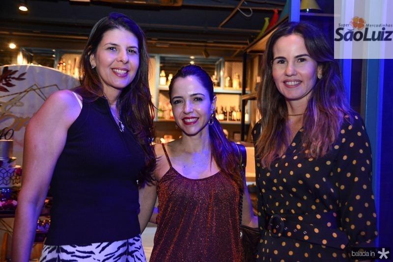 Juliana Valim, Sara Diniz e Ediane Câmara