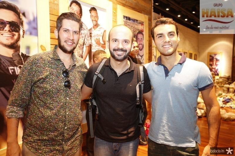 Henrique Baltazar, Ilan Gurgel e Bruno Calaca