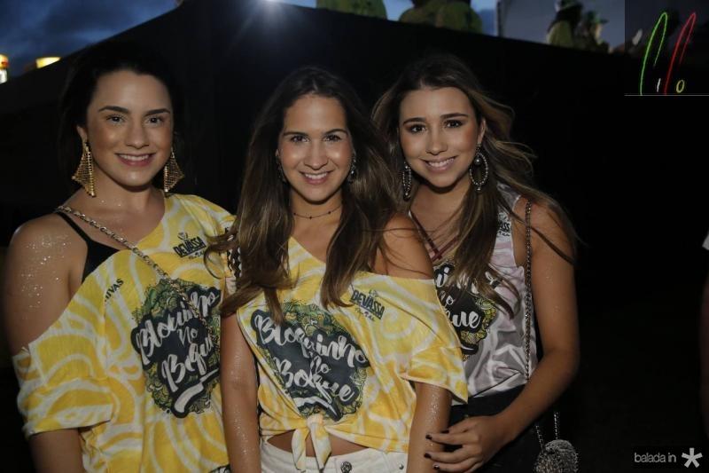 Mariana Fiuza, Marina Brasil e Amanda Diniz