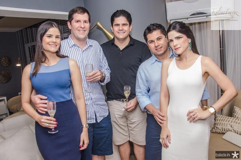 Marilia Quintao, Rodrigo Carneiro, Anderson Quintao, Pompeu Vasconcelos e Marilia Quintao Vasconcelos