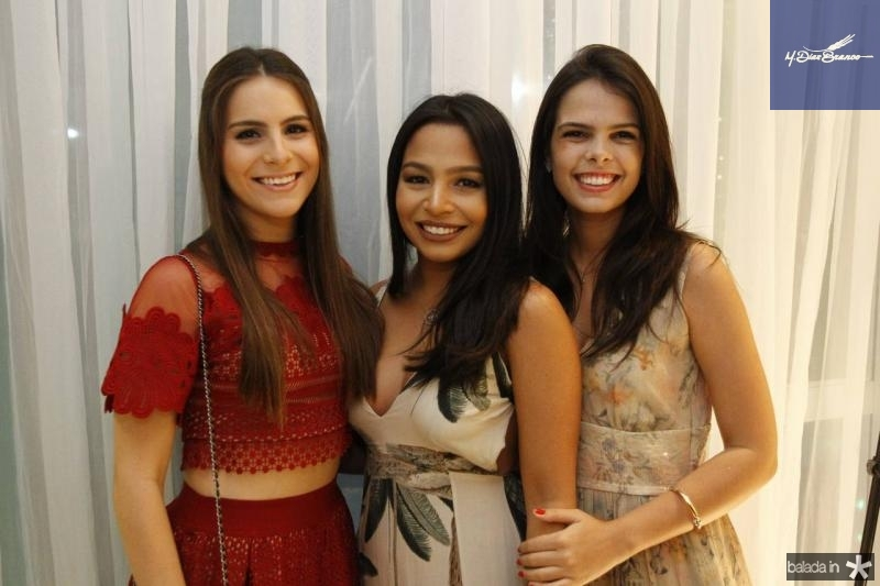 Lara Linhares, Mariana Gadelha e Maria Isabel Miranda