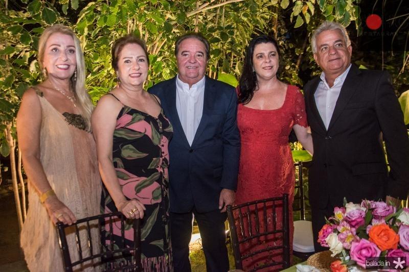 Cecilia Pinheiro, Cristina Aragao, Chiquinho Aragao, Silvia e Marcilio Fiuza