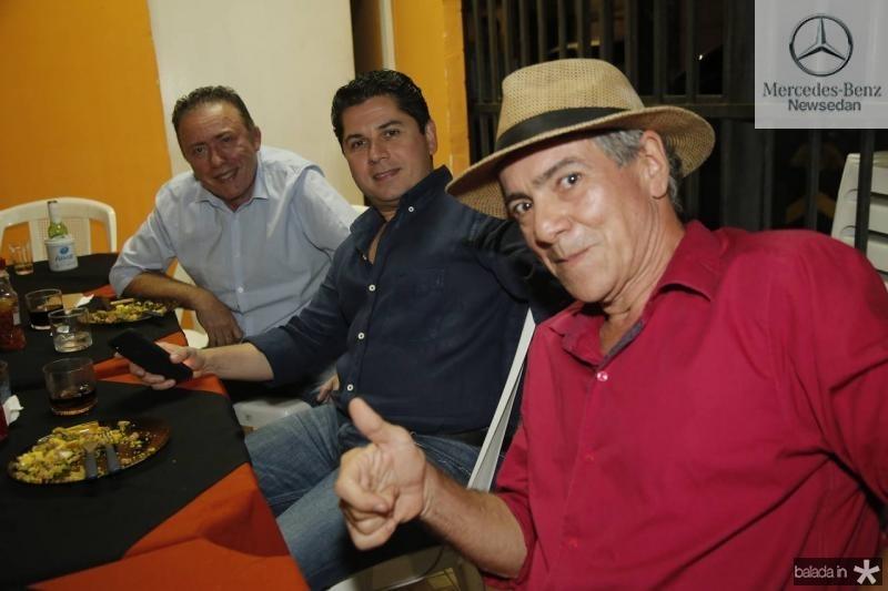 Darlan Leite, Pompeu Vasconcelos e Regis Soares