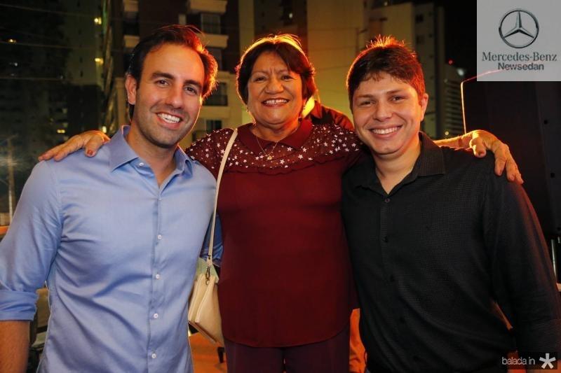 Vitor Frota, Aurenice Araujo e Diogo Silva
