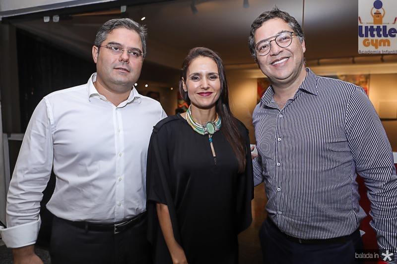 Edson Queiroz Neto, Manuela Bacelar e Eduardo Saron