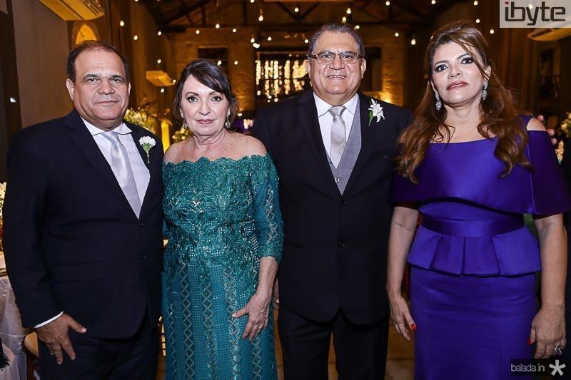 Roberto Moreira, Fátima Neves, Mauricelio e Philomena Araujo