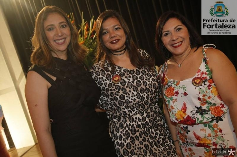 Linda Tavares, Pollyana Brandao e Beth Lima