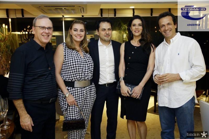 Carlos Moreira, Francini Cirino, Mauricio Maia, Silvana Vianello e Sergio Pimentel