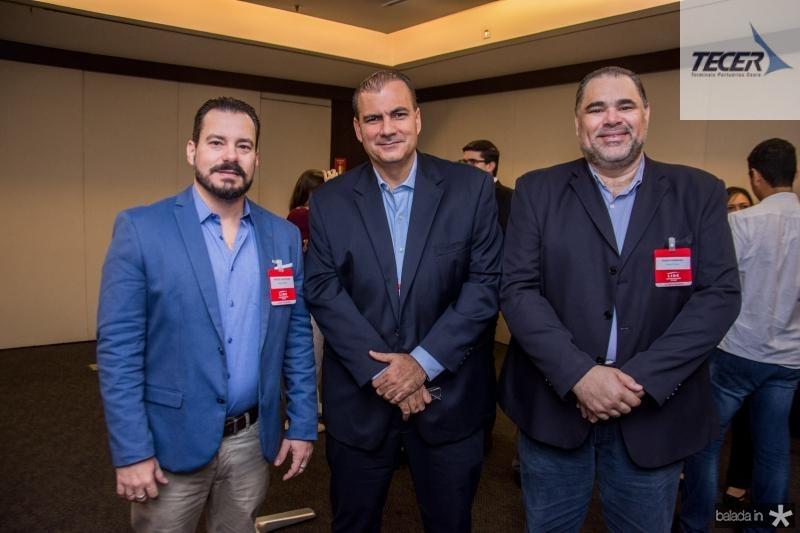 Miguel Dias, Alexandre Sales e Edson Ferreira