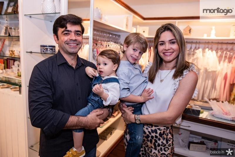 Eduardo, Thiago, Rafael e Natalia Cals