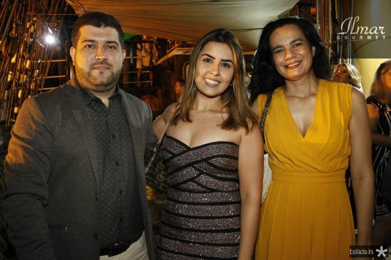 Diego Viana, Marconisa Rodrigues e Christianne Sales