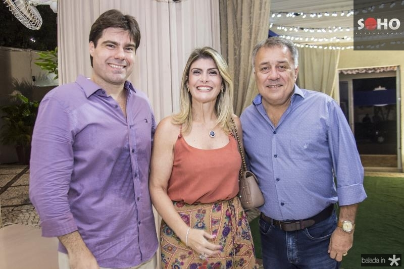 Raphael Boris, Gisele Bezerra e  Adauto Bezerra Junior