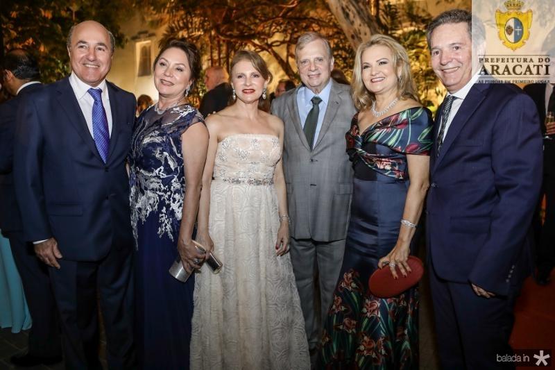 Silvio e Paula Frota, Renata e Tasso Jereissati, Lenise e Claudio Rocha
