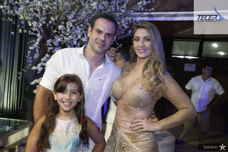 Bruna, Jeferson e Livia Bertolute