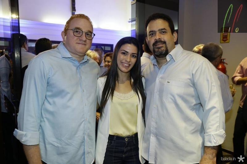 Vicente Aguiar, Mariana Leme e Oziel Souza