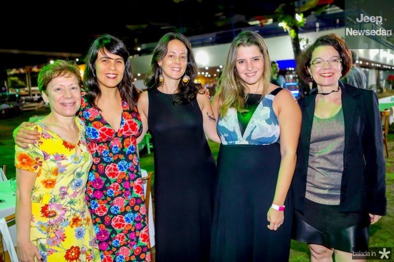 Neuza Barbosa, Luciana Veras, Marina Rossi, Marcela Salgueiro e Monica Loureiro
