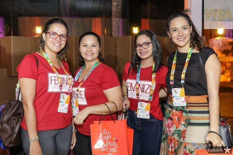 Lia Lessa, Michelle Linhares, Antonia Lidiane e Fernanda Furtado