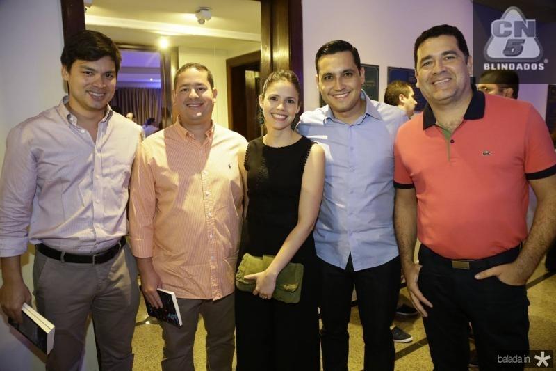 Thiago Fujiwara, Daniel Aguiar, Iris Leite, Luiz Sobreira e Draurio Pinho