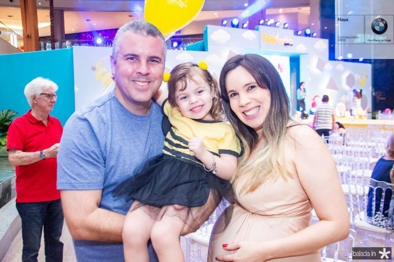 Rodrigo Queiroz, Lia Queiroz e Lidiane Aguiar