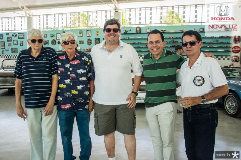Francisco Roberto, Paulo Stenio, Denis Wolfgan, Alexandre Guilhon e Arnobio Thomaz