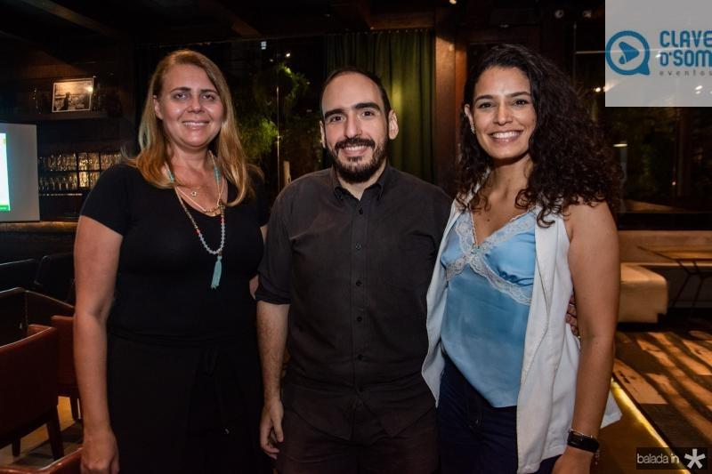 Patricia Abreu, Aecio Araujo e Gabriela Oliveira