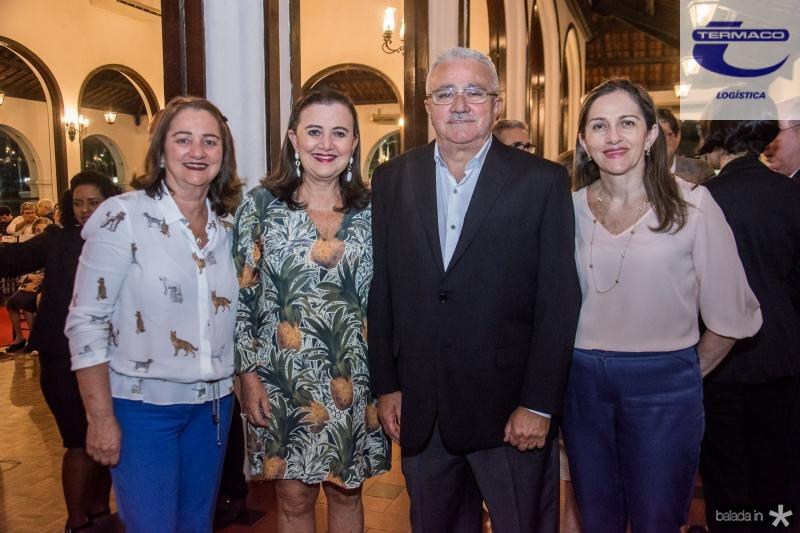 Jerusa Lima, Silvia Campos, Alcimor Rocha e Eveline Carvalho