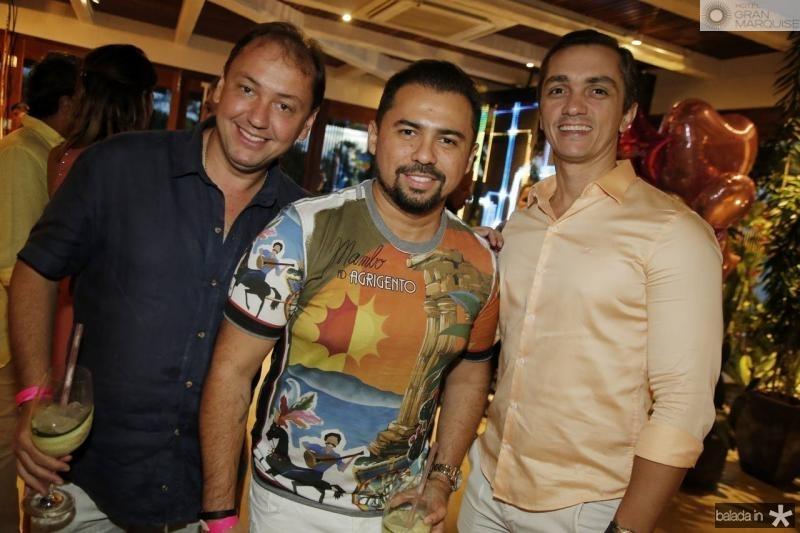 Ariston Araujo, Xande Tomoteo e Marcelo Marfrutas