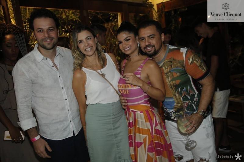 Geraldinho e Liliane Rola, Isabelle e Xande Timoteo